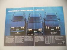 advertising Pubblicità 1986 BMW M3/325 iX/318 iS - 320 iS