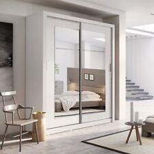Brand New Modern Bedroom Sliding Mirror Wardrobe IDEA ID-02 White Matt 180cm