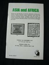 Robson Lowe Asia y África 1977 Catálogo de Subasta Con 'Drennan' China Mongolia