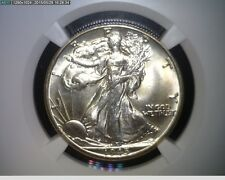 1945-D Walking Liberty Silver Half Dollar - NGC MS 66