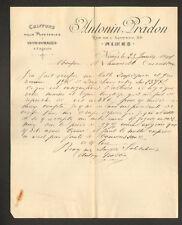 """NIMES (30) CHIFFONS & EFFILICHAGES """"Antonin PRADON"""" en 1901"""