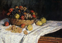"Claude Monet  /""Still Life with Apples and Grapes 1881/""  28x24"