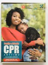 Family & Friends CPR Anytime Training Kit Brown Skin Manikin DVD Spanish English