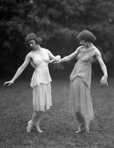 """1921 Dancers Desha & Leah Vintage Old Photo Picture 8.5"""" x 11"""" Historic Reprint"""