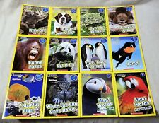 Complete Set 12 NATIONAL GEOGRAPHIC KIDS Phonics Books SCHOLASTIC Sight Words