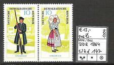 DDR 1964 Volkstrachten (I) WZd 147 postfrisch KW 13,-€