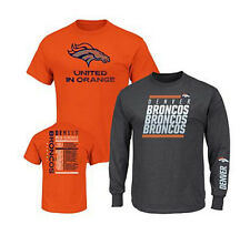 NFL 3-in-1 3 Looks in 1 Tee Shirt Combo~ Denver BRONCOS ~2X