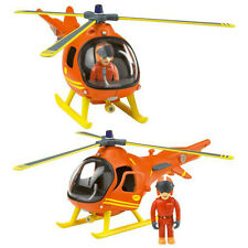 New Fireman Sam Friction Mountain Rescue Helicopter With Articulated Tom Figure