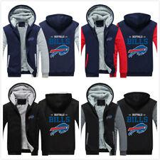 Buffalo Bills Football Hoodies Thicken Warm Sweatshirt Fleece Jacket Winter Coat