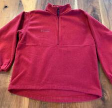 Men's Columbia Red Half-Zip Pullover Jacket Size M