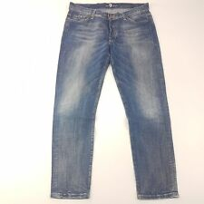 7 For All Mankind JOSEFINA Women Boyfriend Jeans W34 L28 Blue Relaxed Skinny Leg
