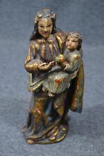 Holzschnitzerei, Madonna mit Jesuskind, farbig gefaßt, etwa Mitte 18.Jhdrt.