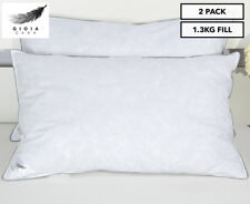 Gioia Casa 1.3kg Fill Duck Feather Pillow Twin Pack
