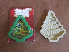 Wilton Christmas Tree Cookie Cutter Comfort Grip & Clay Mold Baking Crafts