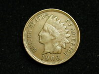 NEW INVENTORY  XF 1906 INDIAN HEAD CENT PENNY w/ DIAMONDS & FULL LIBERTY #199i