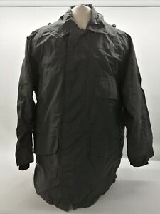 Ex Police Waterproof Jacket Coat Black Lightweight Security Uniform Patrol Duty