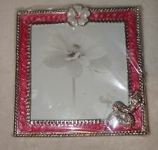 Taylor Avedon collectible Enamel Crystals Photo picture Frame pink snake new