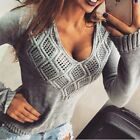 Fashion Women Long Sleeve Knitted Sweater Jumper Knitwear Cardigan Coat Outwear