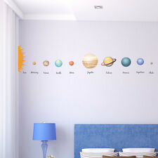 EDUCATIONAL SOLAR SYSTEM PLANETS CHILDREN'S WALL DECAL STICKER TRANSFER MURAL