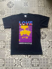 "Vintage 90s Rare Frank Kozik Manson ""American style"" Tshirt size L PUNK"