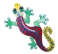 Large Gecko Lizard Reclaimed Metal Wall Art Design Tropical Fence or Garden