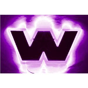 "Western Star 4900 bonnet logo badge backing light ""Purple"""