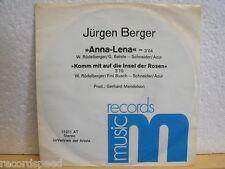 """★★ 7"""" - JÜRGEN BERGER - Anna Lena - Komm Mit Auf Die Insel Der Rosen"""