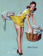 "RETRO PINUP GIRL CANVAS PRINT 8X10"" Poster Gil Elvgren Laundry Fail"