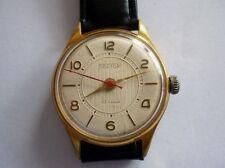 Rare Russian VOSTOK PRECISION Goldplated 22 Jewels Wrist Watch 1960