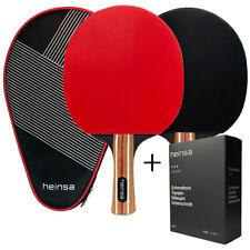 heinsa BUNDLE Profi Tischtennisschläger Set 2 Schläger + extra Tischtennisbälle