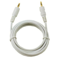 AUX Auxiliary Stereo Audio Cable 3.5mm Male To 3.5mm Male White 20' FT