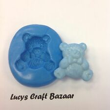 Silicone Mould Teddy Bears Picnic 1 Cupcake Pop Topper Sugarcraft Flowerpaste