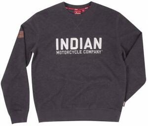 INDIAN MOTORCYCLE MEN'S CHARCOAL LOGO SWEATSHIRT