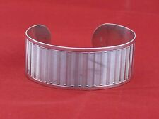 Vintage Sterling Silver 925 large wide Bracelet Open Cuff Continental 800 hand m