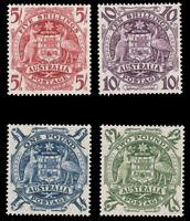 Australia 1949-50 ARM SET MNH #218-21 CV$278.50