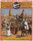 POSTER SELLS BROTHERS CIRCUS ARABIAN PILGRIMAGE TO MECCA VINTAGE REPRO FREE S/H