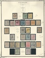 Luxembourg Stamp Collection 1874 to 1882 on 2 Scott Specialty Pages