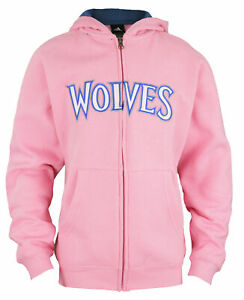 Adidas NBA Youth Girls (7-16) Minnesota Timberwolves Zip Up Hoodie