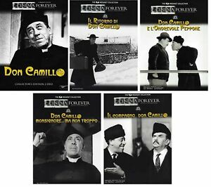 7 Dvd x 5 Film DON CAMILLO e PEPPONE collezione serie completa Fernandel nuovo