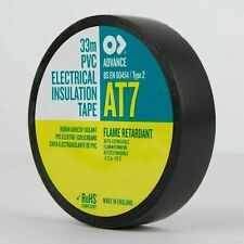 40 x ADVANCE 'AT7' Black PVC Electrical Insulating Insulation Tape - EPT7 x4