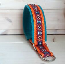 Mexican martingale dog collar aztec inca pattern ethnic collar for dog