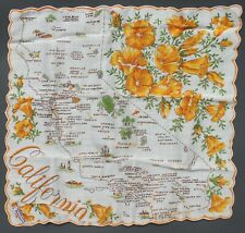 Vintage Ladie'S California Handkerchief W Scalloped Embroidery & Org. Tag