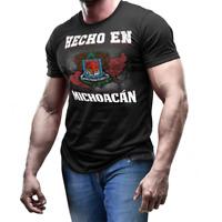 Hecho En Michoacan Mexico coat of arm shirt Mexican Flag emblem T-shirt