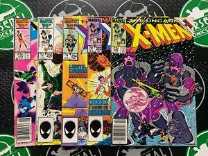 Uncanny X-Men #202 203 204 206 208 1986 Marvel Comics Wolverine Phoenix Magneto