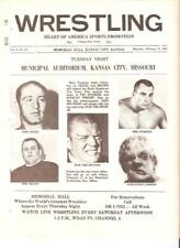 NWA Geigel wrestling program WWWF 1967 DiBiase Pear Kamata Myers Donovan Maynard