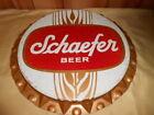 Rare Vintage Schaefer Beer Bottle Cap Advertising Sign nice! 19in.
