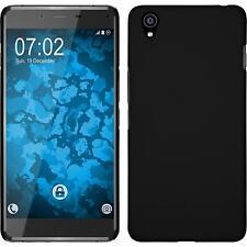 Hardcase für  OnePlus X Hülle schwarz gummiert + 2 Schutzfolien