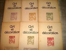 ART & DECORATION 1922 1er Sem. 6/6 ART DECO TISSU CHINE ORLOFF JOURDAIN POMPON