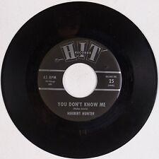 HERBERT HUNTER: You Don't Know Me / Right String Wrong Yo-Yo HIT 60s Soul 45 MP3