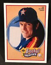 1991 UPPER DECK BASEBALL HEROES NOLAN RYAN 1981 ALL-TIME LEADER #14 NMT/MT-MINT